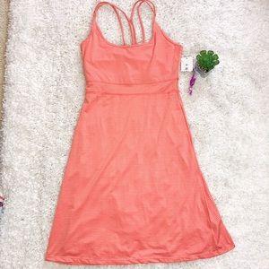 SOYBU YOGA DRESS SUMMER SUNDRESS PEACH STRIPE XS